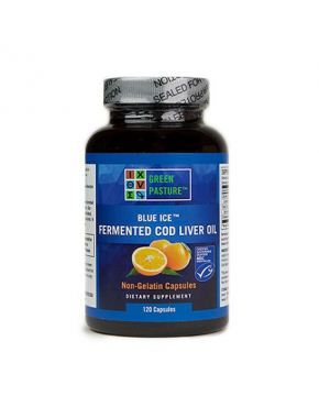Blue Ice Fermented Cod Liver Oil - Oslo Orange 120 capsules